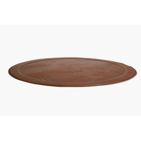 Serving Tray Square - Leather - Cocoa Brown-2