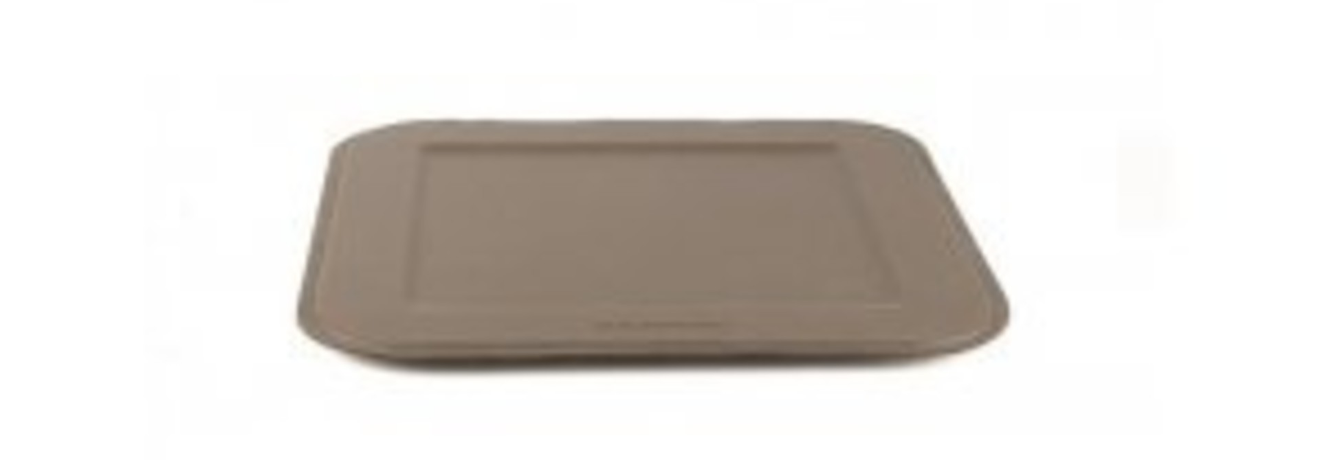 Serving Tray Square - Leather - Cocoa Brown