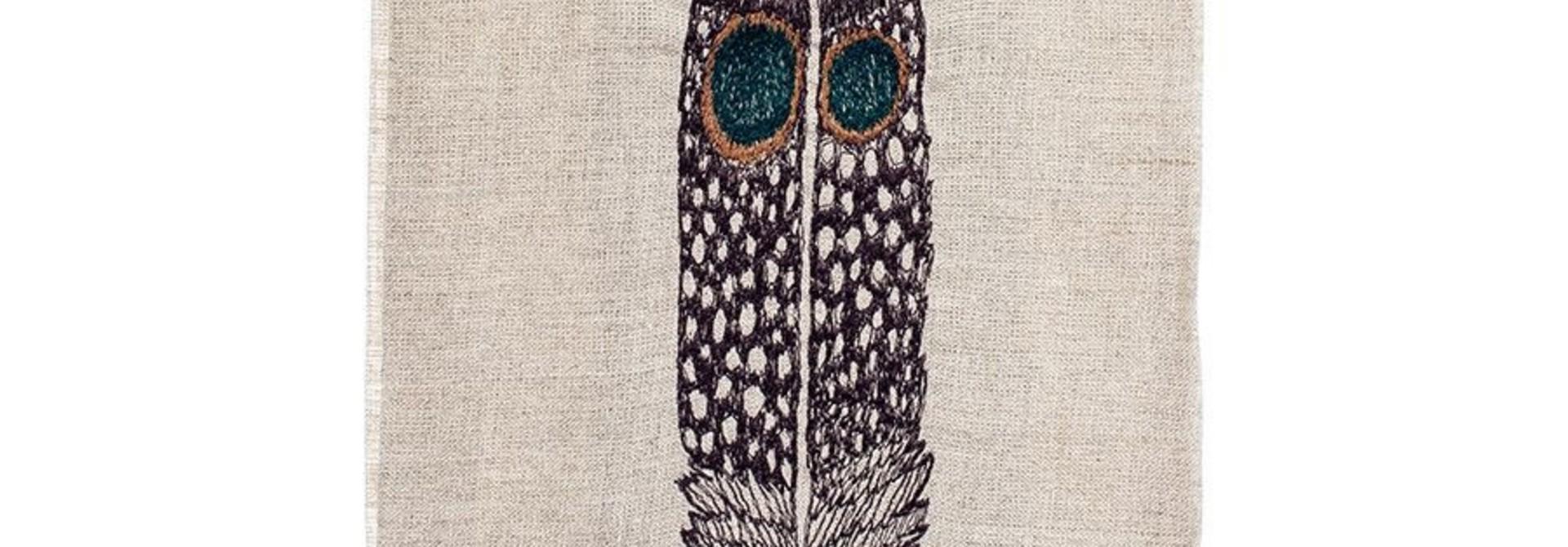 Tea Towel - Owl Feather