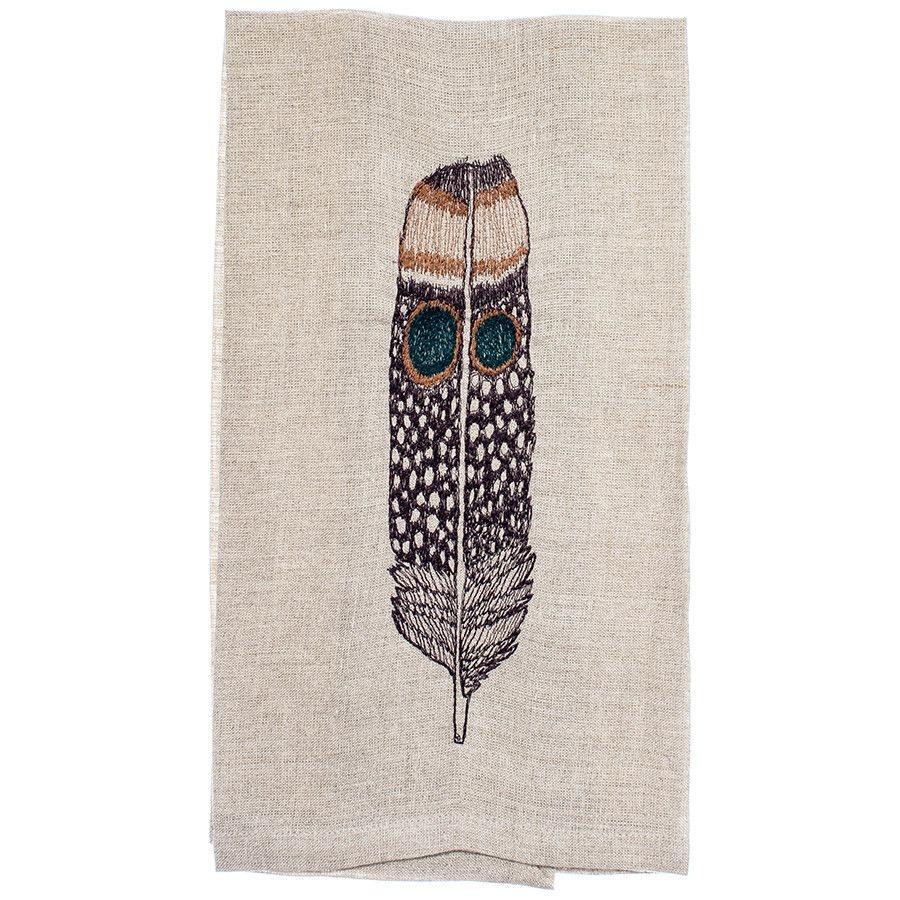 Tea Towel - Owl Feather-1