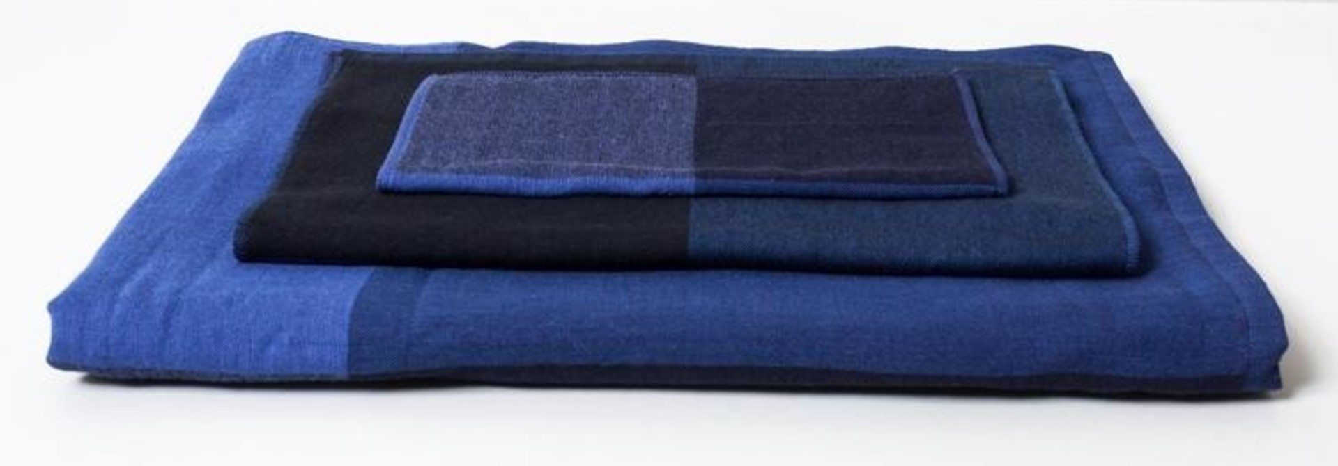Face Towel - Chambray - Blue/Blk
