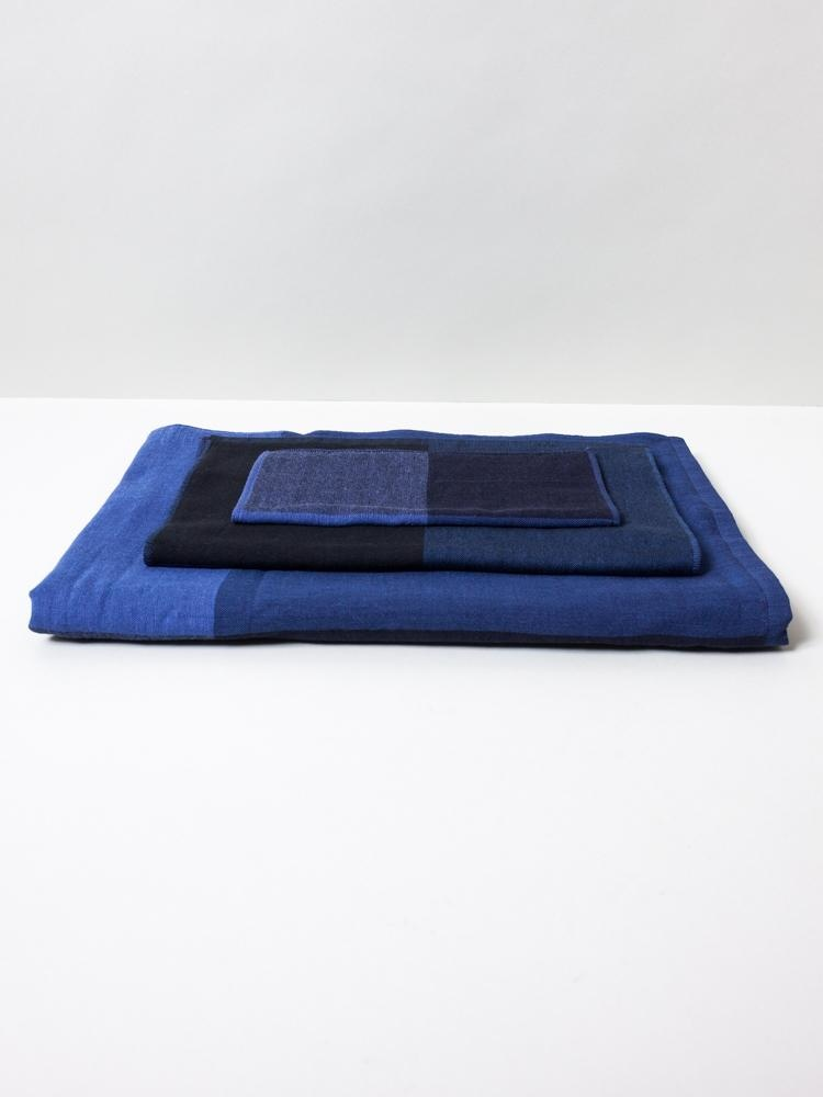 Face Towel - Chambray - Blue/Blk-1