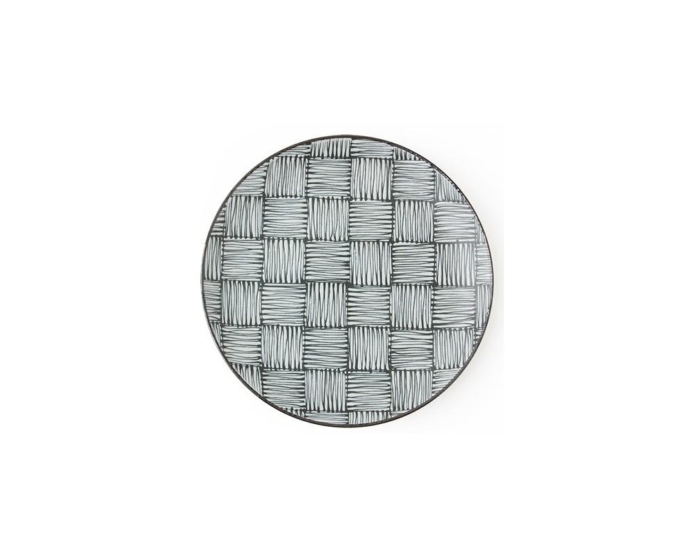 """Komon Ichimatsu 9"""" Plate-1"""