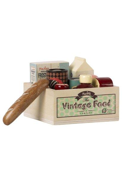 Vintage Food Grocery Box