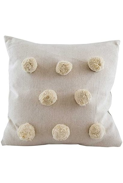 Cushion - Pompom - Natural