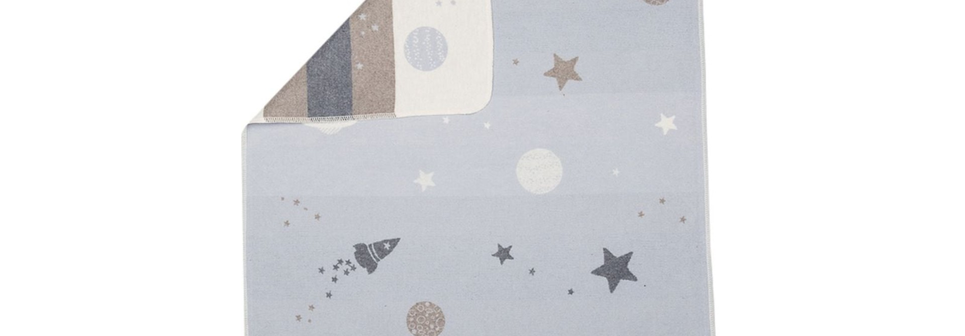 Blanket - Planets - Blue/Grey