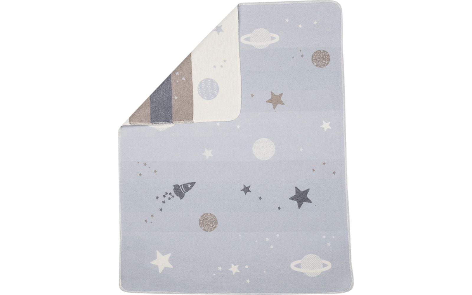 Blanket - Planets - Blue/Grey-1