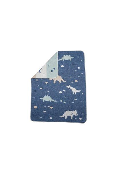 Blanket - Dino - Blue