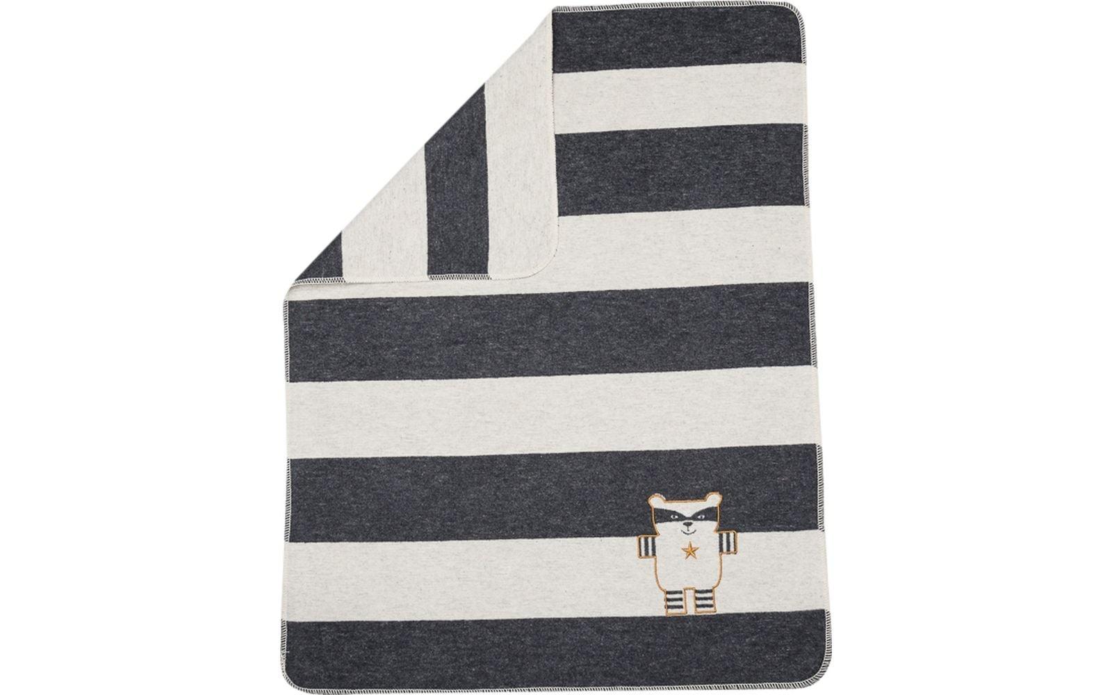 Blanket - Racoon - Charcoal Stripe-2