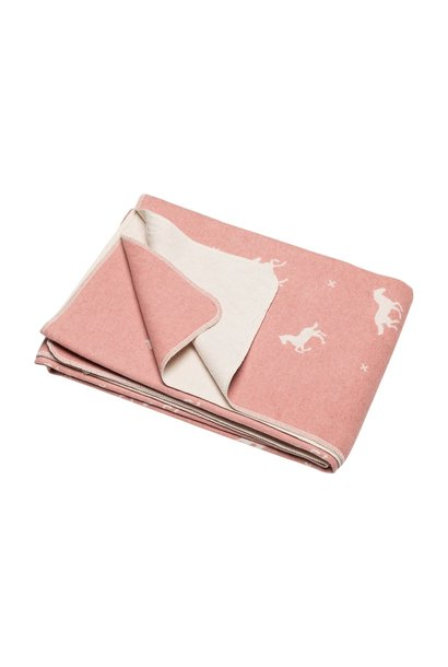 Blanket - Horses - Pink