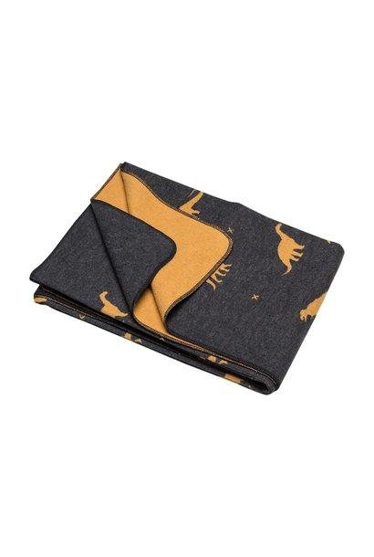 Blanket - Dino - Charcoal