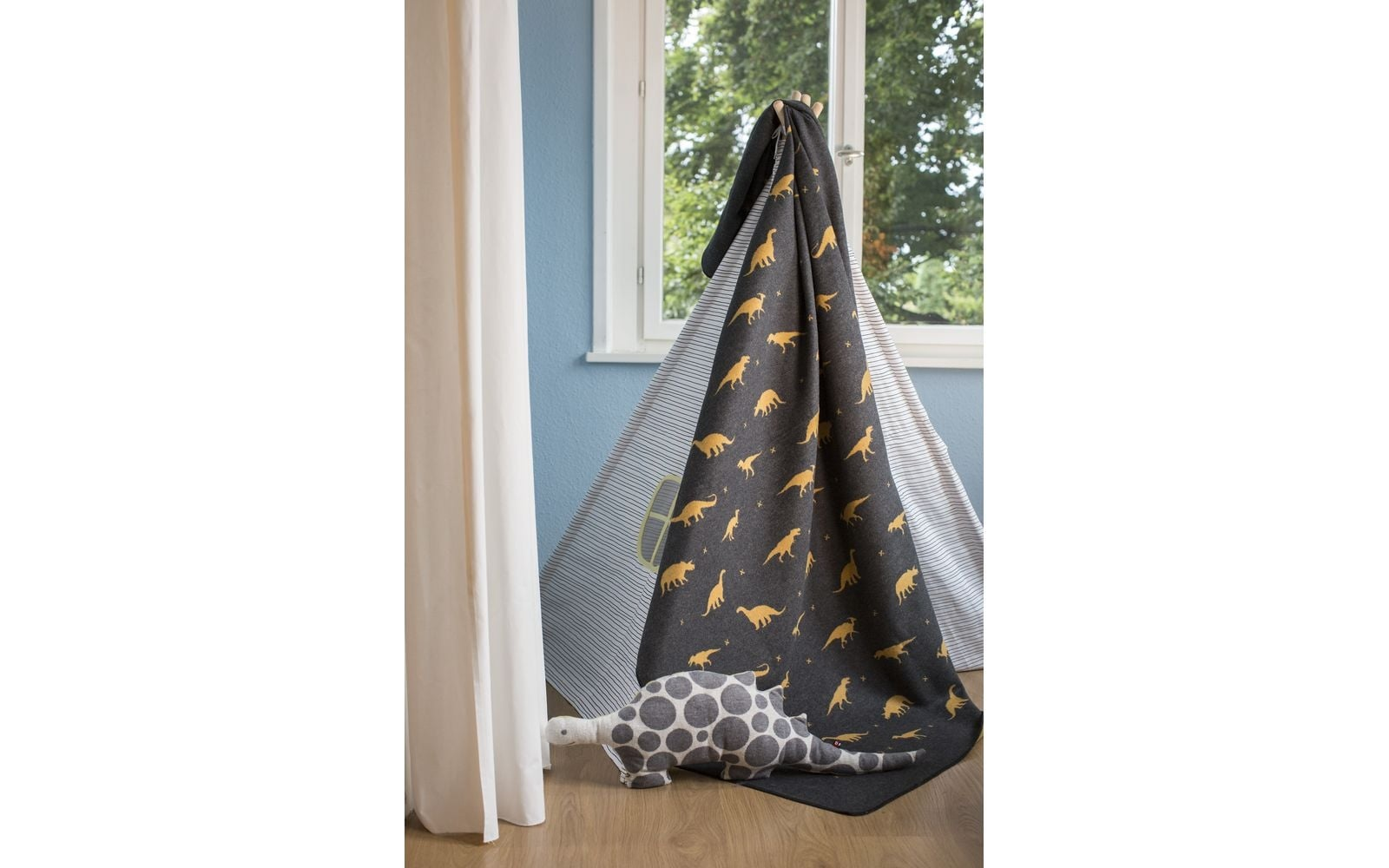 Blanket - Dino - Charcoal-2