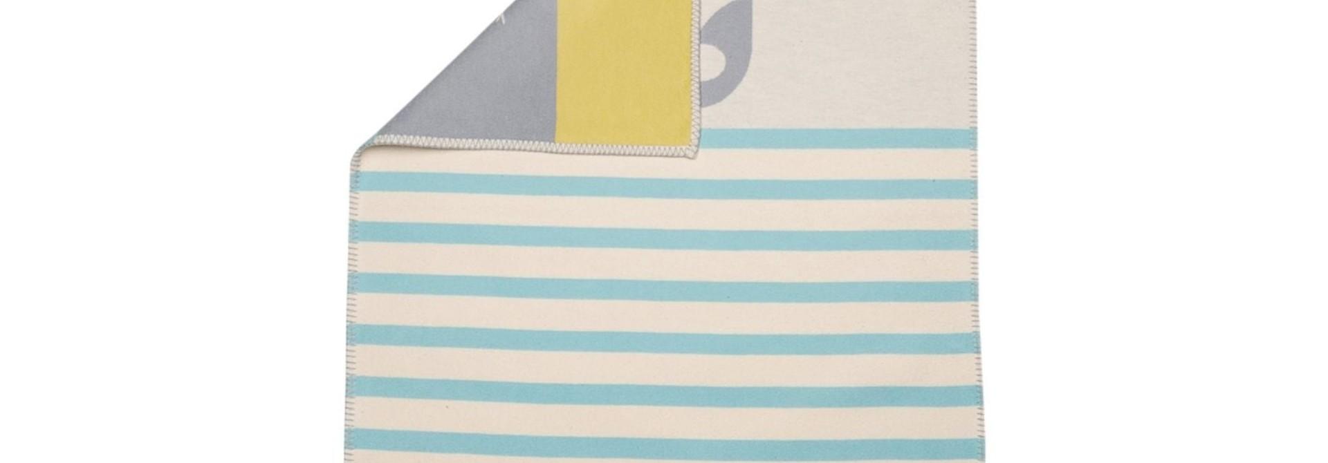 Blanket - Elephant - Blue Stripe