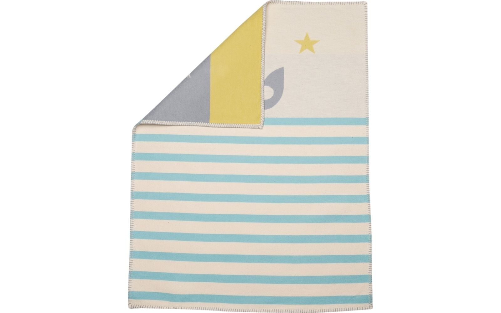 Blanket - Elephant - Blue Stripe-1