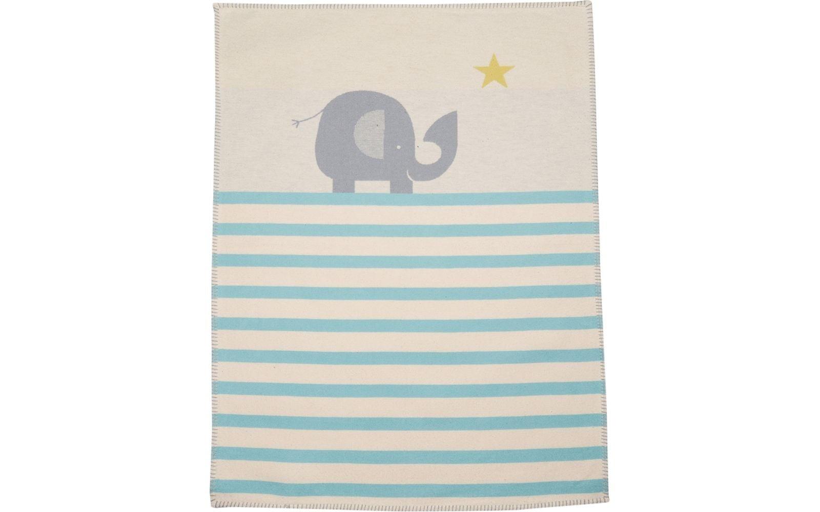 Blanket - Elephant - Blue Stripe-2