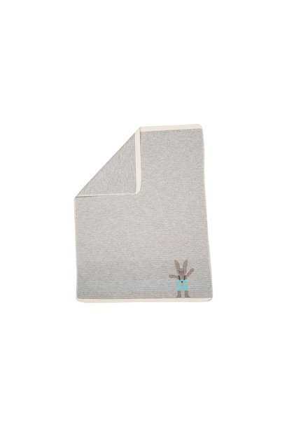 Blanket -  Bunny - Stripe Grey