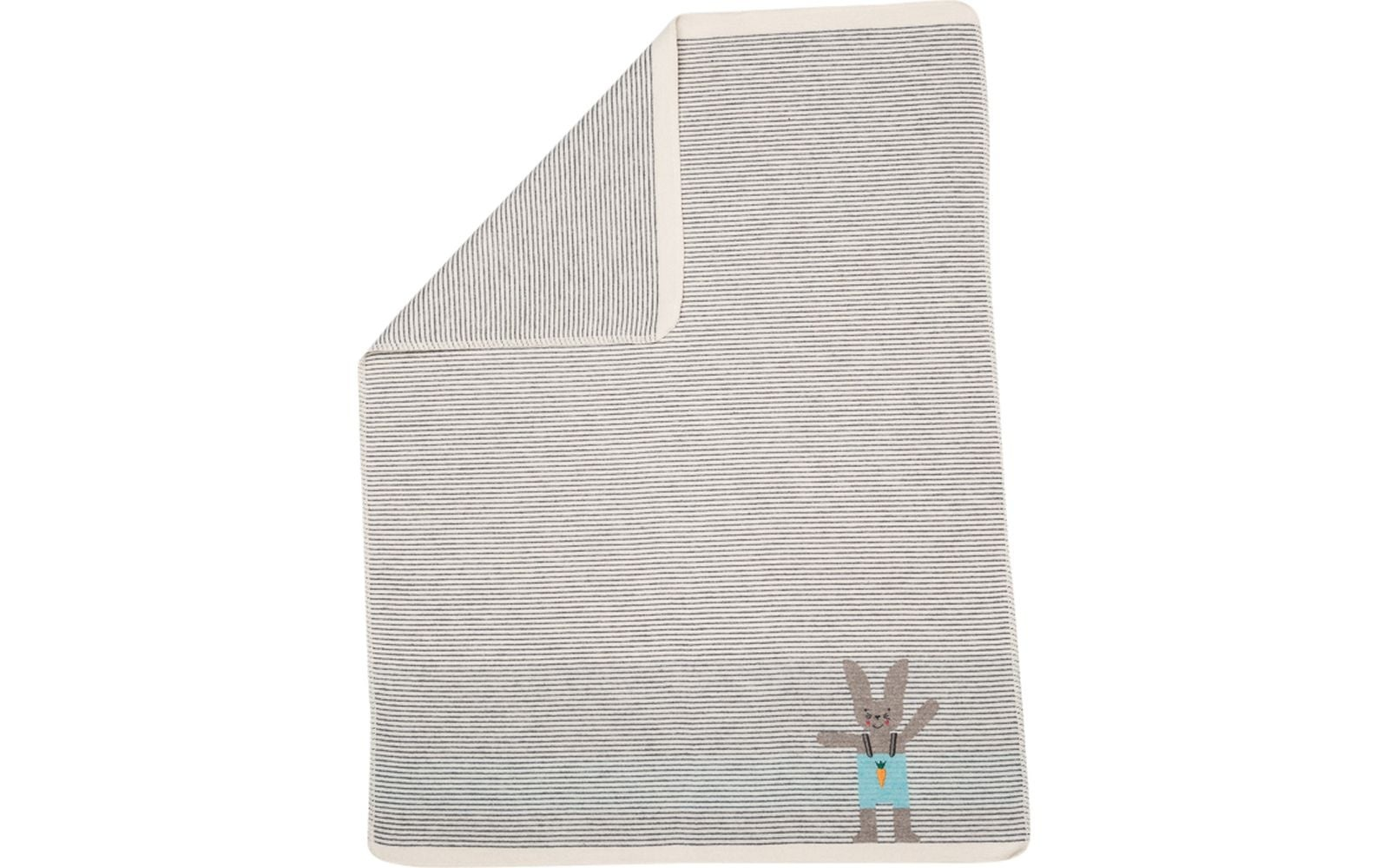 Blanket -  Bunny - Stripe Grey-1