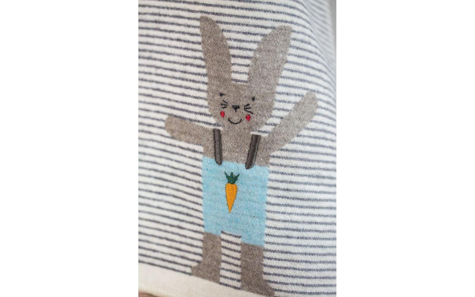 Blanket -  Bunny - Stripe Grey-2