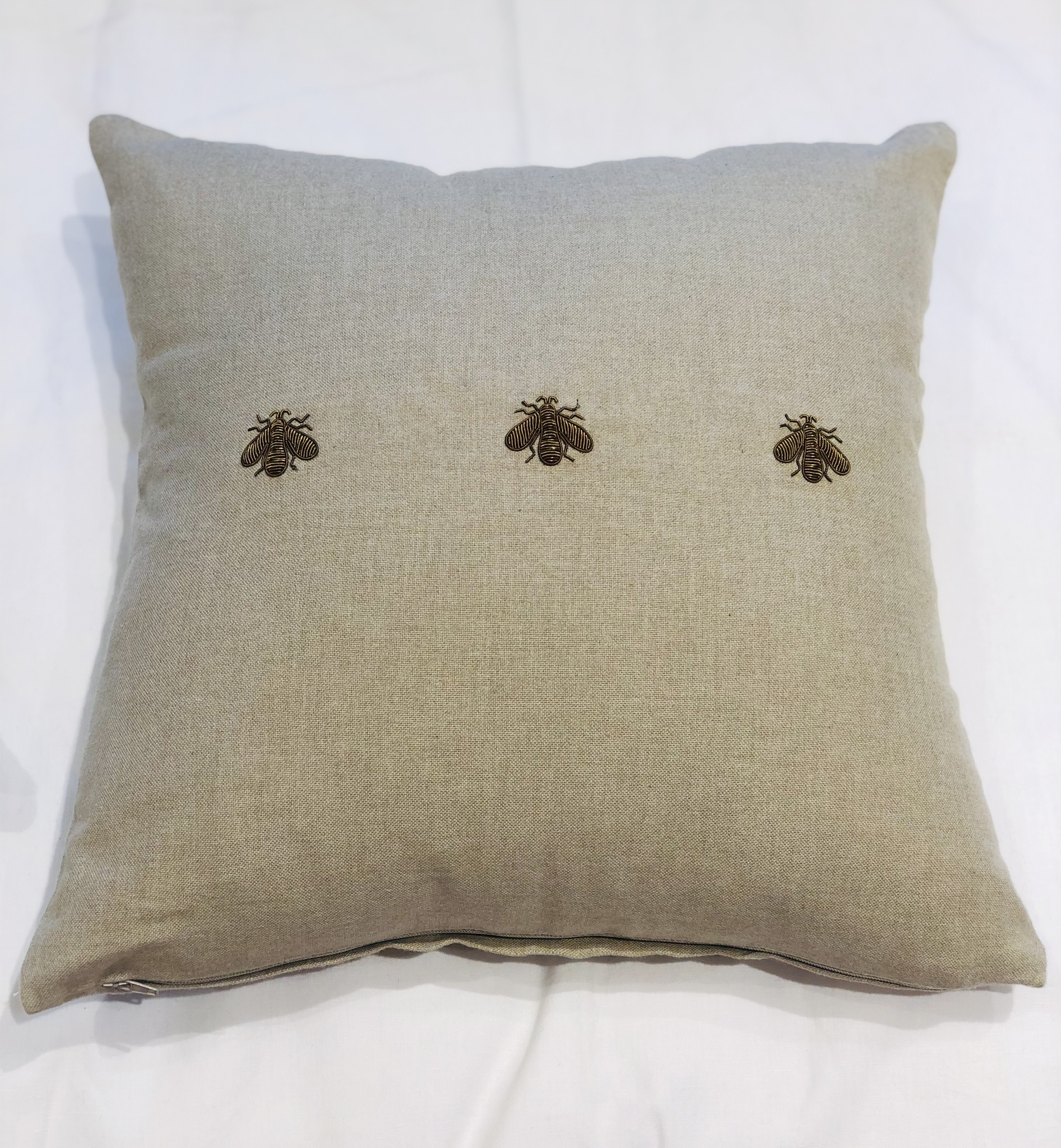 Cushion (Set of 2) - Bees - Natural-2