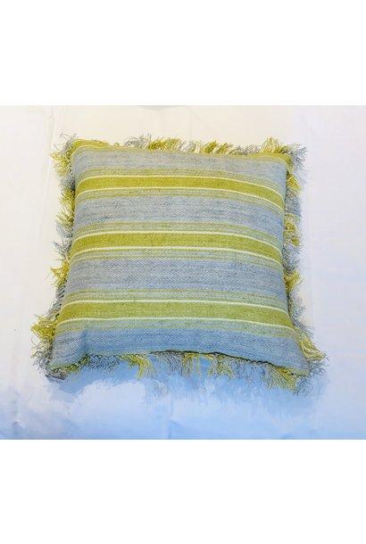 Cushion - Ticking - Blue/Green