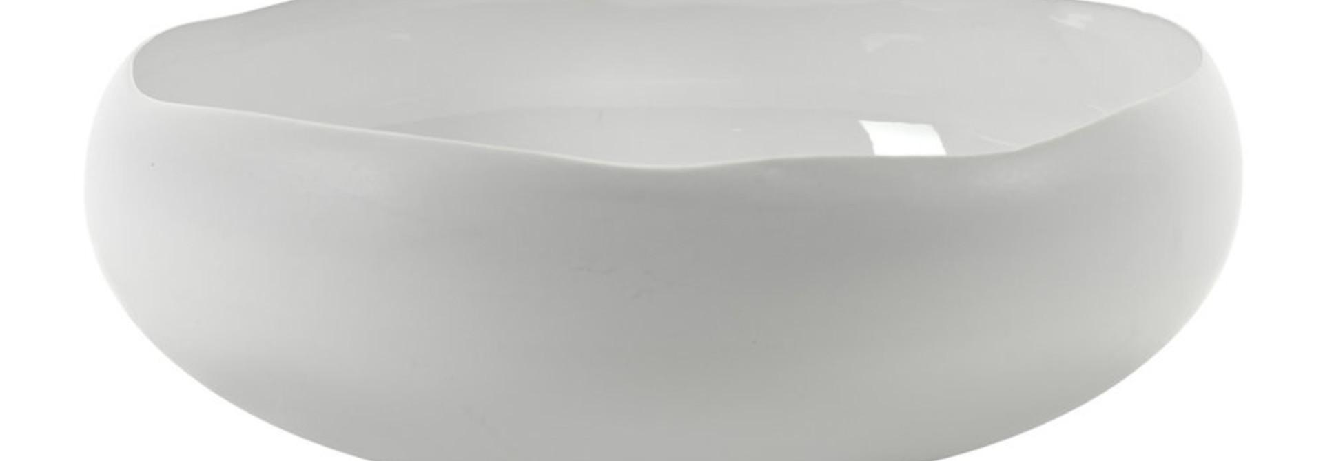 "13.5""  Bowl Irregular Shape - White"