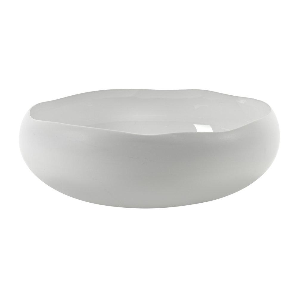 "13.5""  Bowl Irregular Shape - White-1"