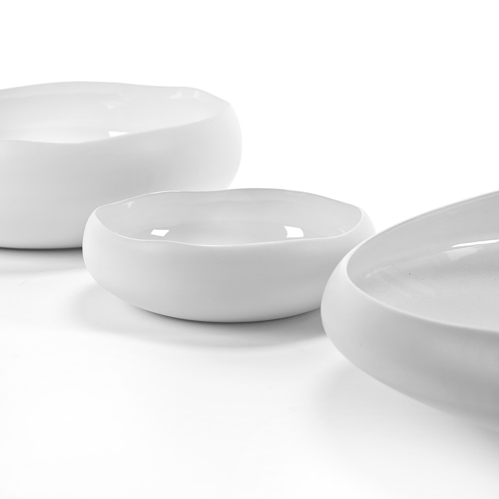 "17.5 "" Irregular Shape Bowl - White-2"