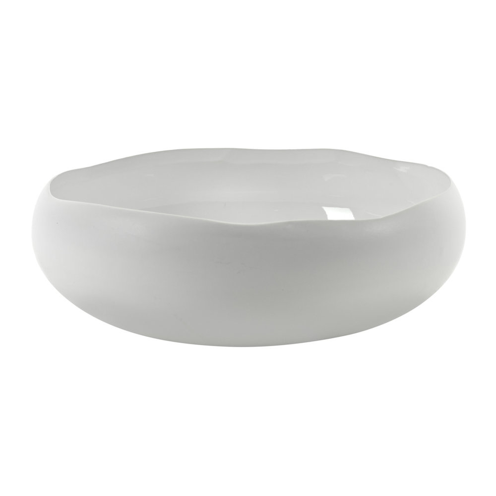 "17.5 "" Irregular Shape Bowl - White-1"