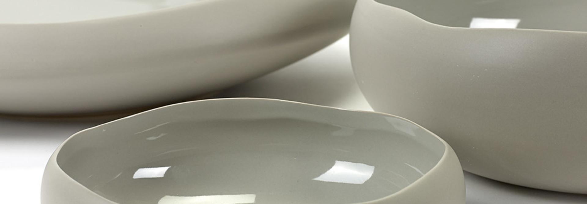 "17.5 "" Irregular Shape Bowl - Taupe"