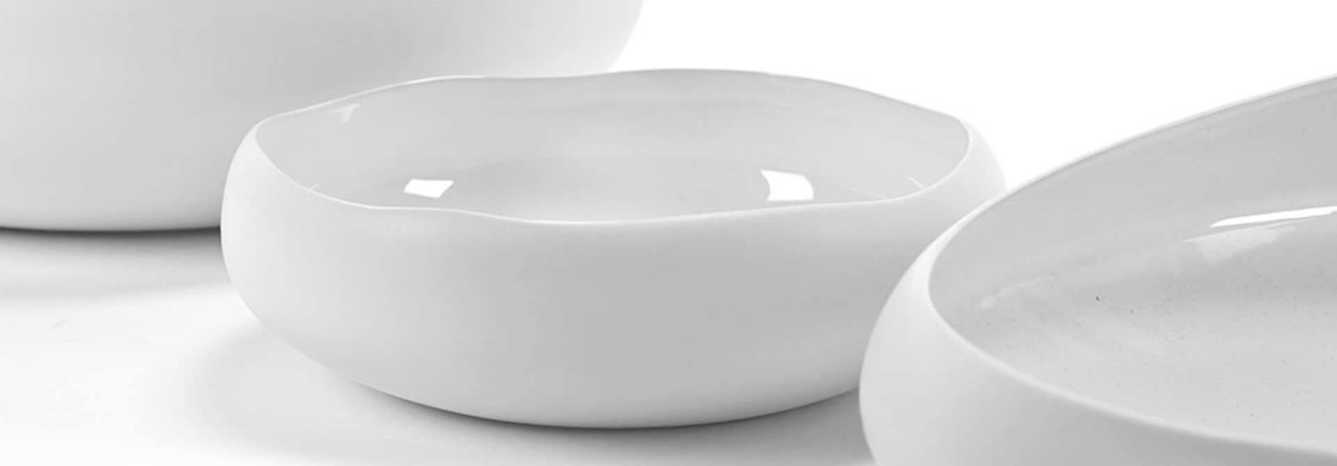 "8.5"" Bowl Irregular Shape - White"