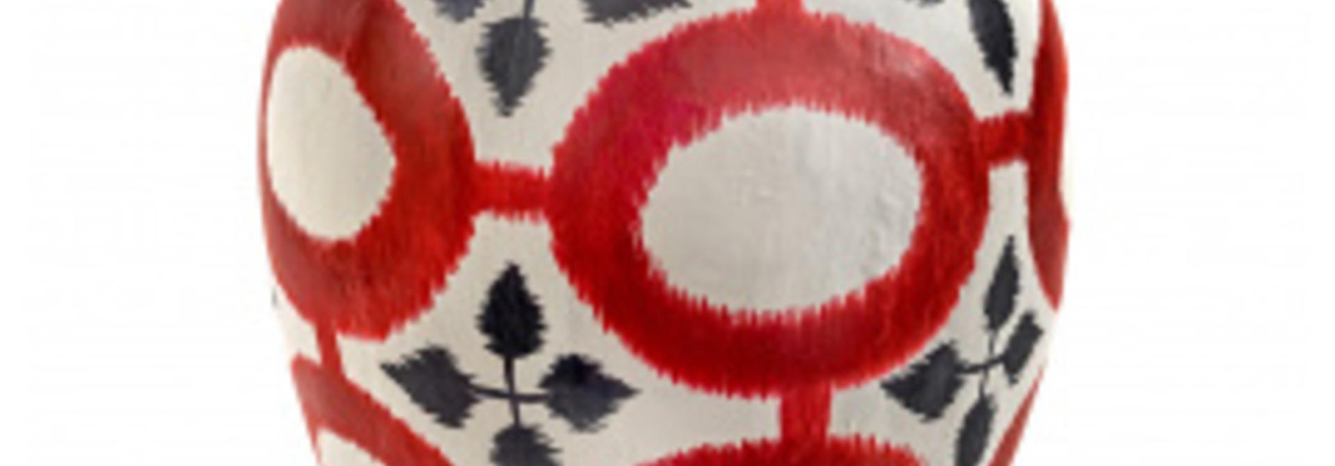 Vase - Borchgrave - Paper Mache - Red
