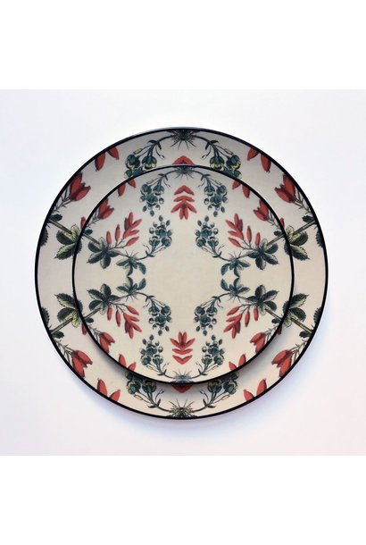 Set of 8 -  Side/lunch Plate - Flowers