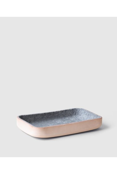 Catchall Tray - leather/felt - Large