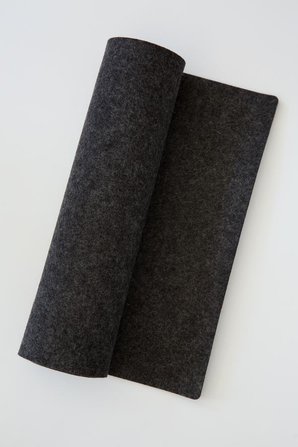 Table Runner - Felt - Charcoal-1