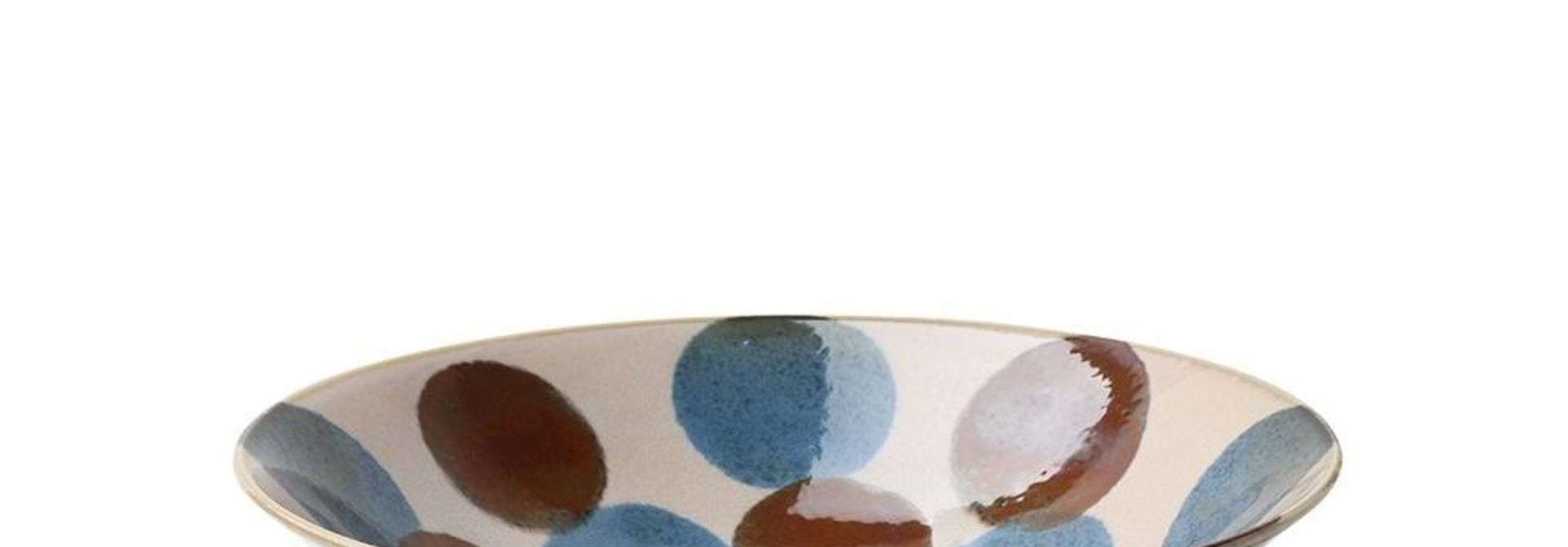 Rustic Blue & Brown -  Serving Bowl