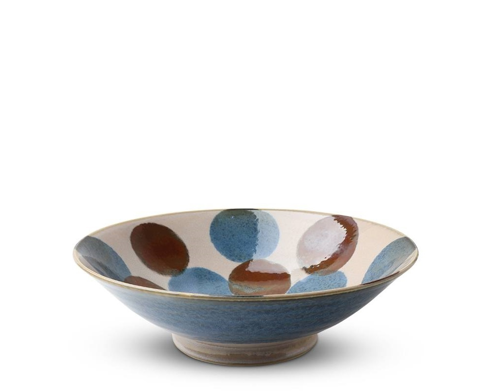 Rustic Blue & Brown -  Serving Bowl-1