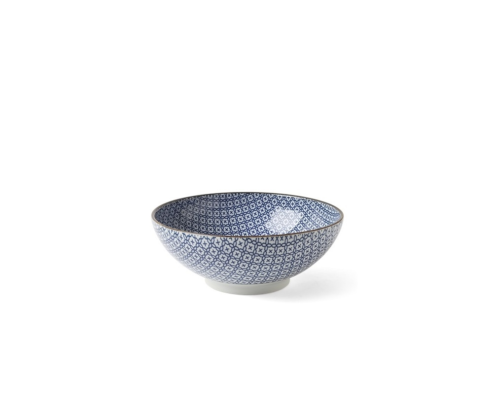 Blue and White Mosaic - Bowl-1