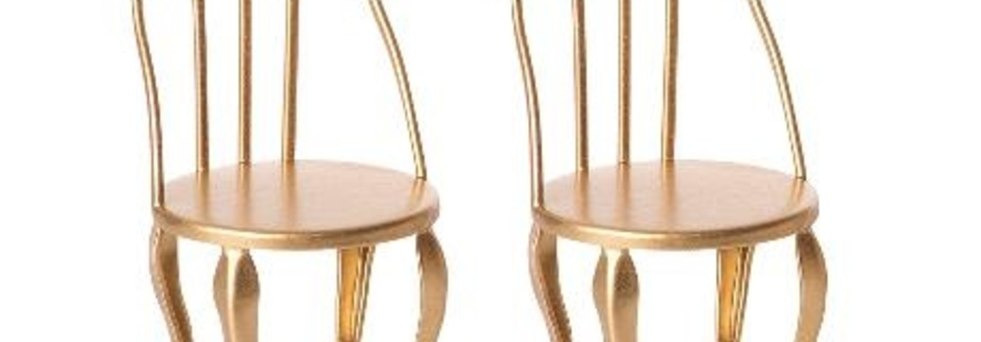 Vintage Chair Micro - Gold - 2 Pack