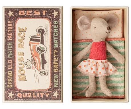 Little Sister Mouse - Matchbox - Green-1