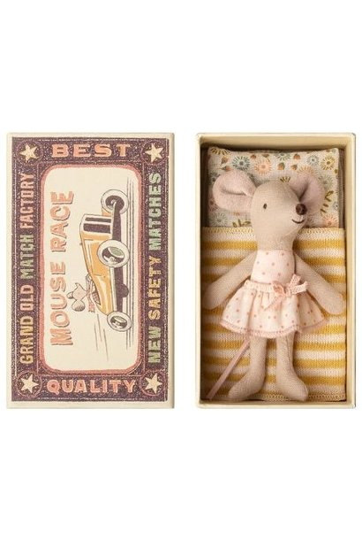 Little Sister Mouse - Matchbox - Yellow