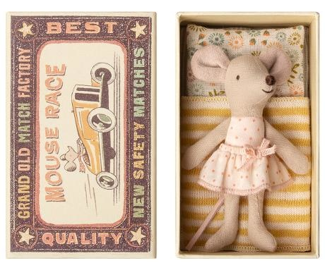 Little Sister Mouse - Matchbox - Yellow-1