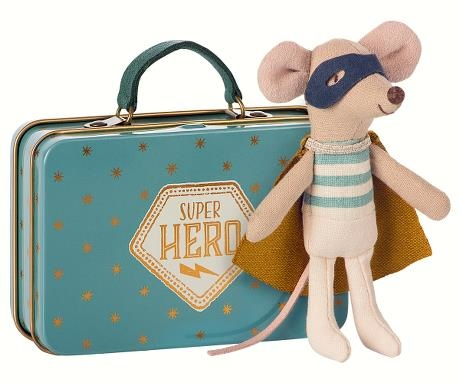 Superhero Mouse - Little Brother in Suitcase - Blue-1
