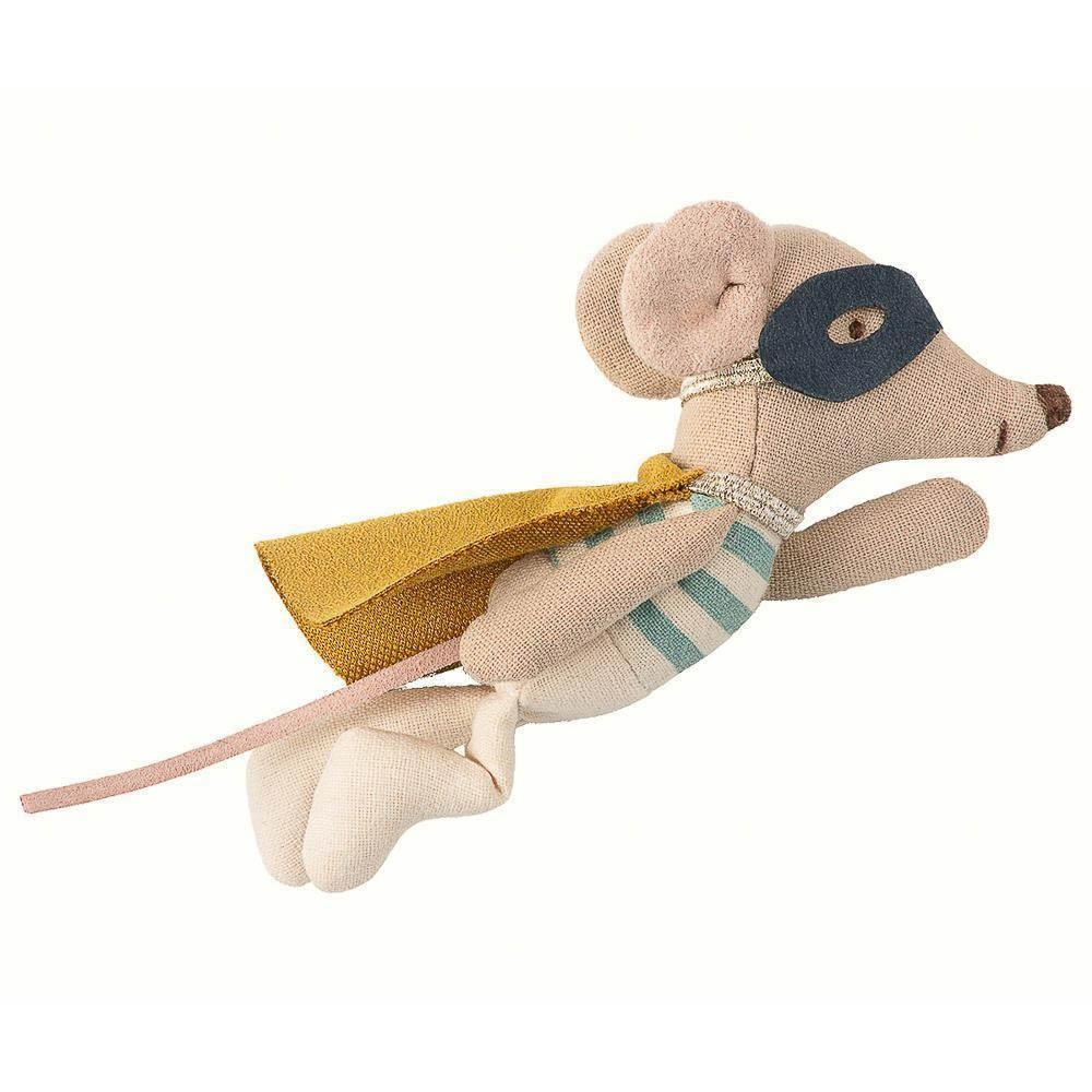 Superhero Mouse - Little Brother in Suitcase - Blue-2