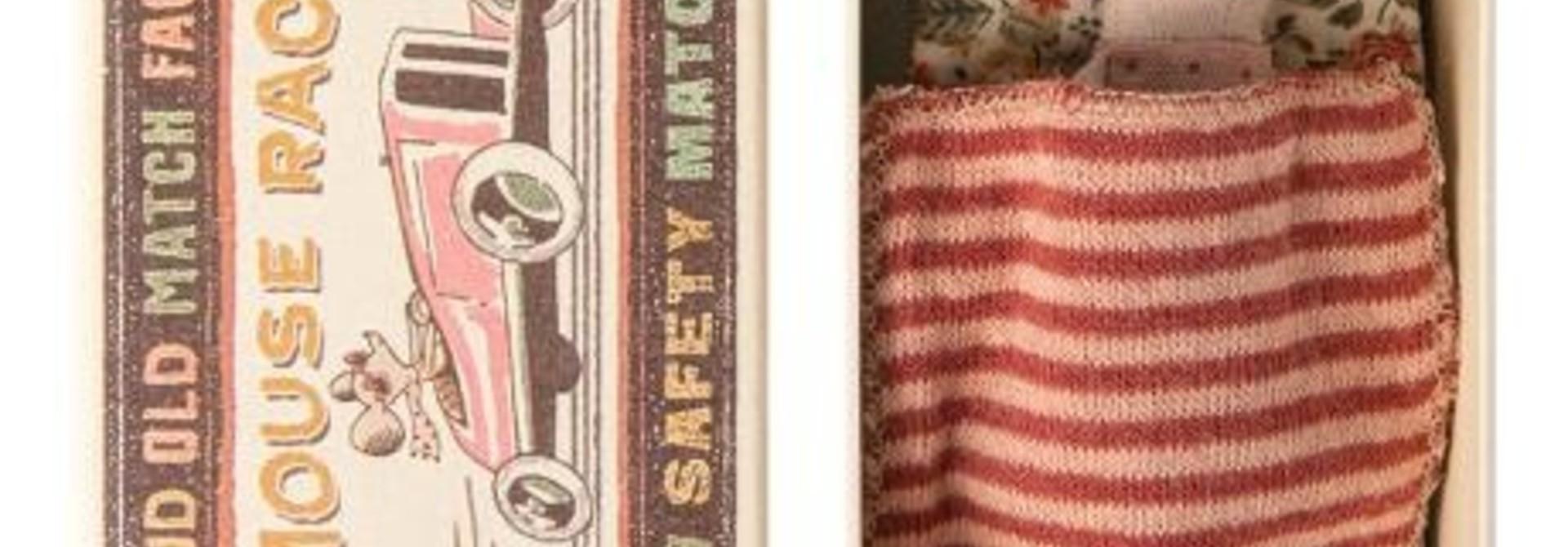 Maileg Big Sister Mouse/Matchbox - stripe rust