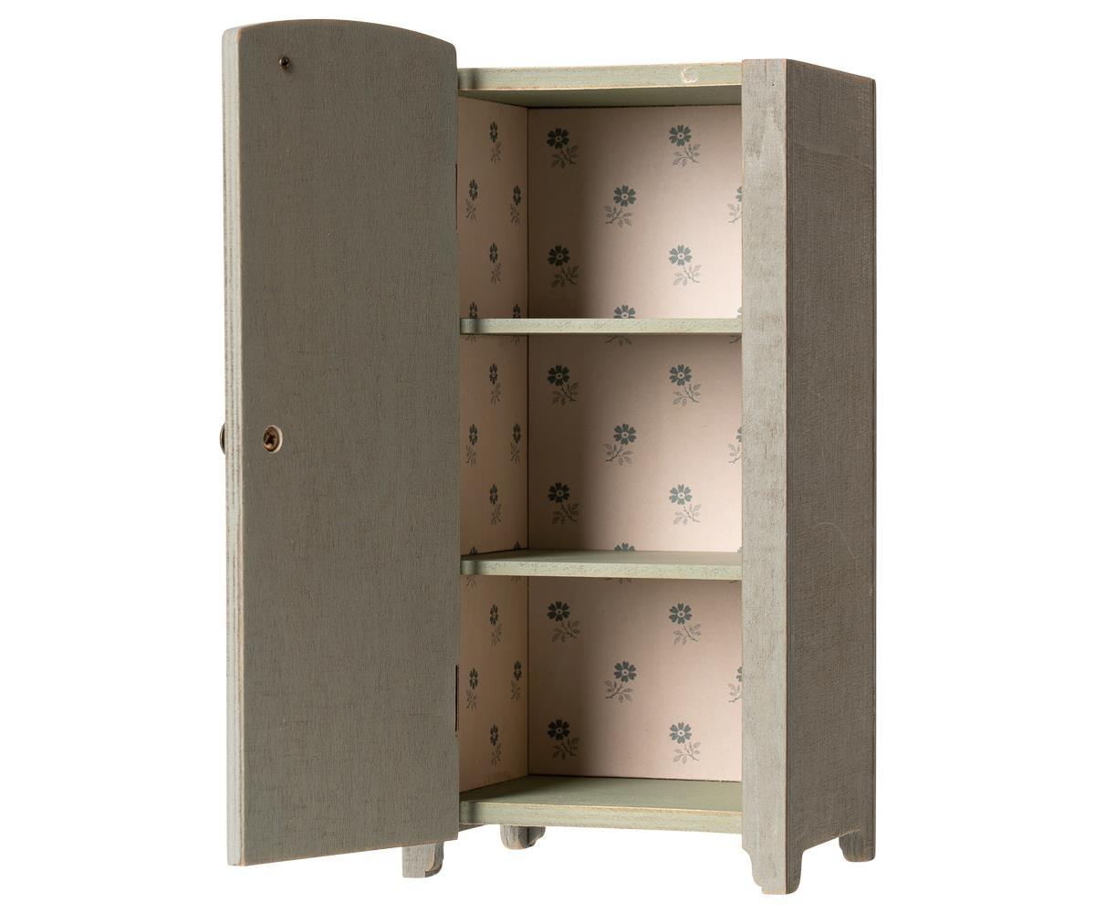 Vintage Closet w/Shelves - Mint-Grey-2