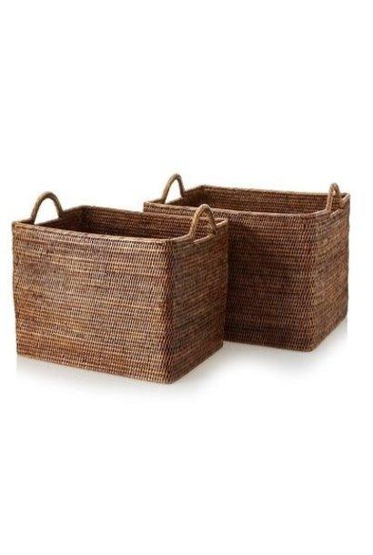 Rectangular Basket w/ Loop Handles - Lg