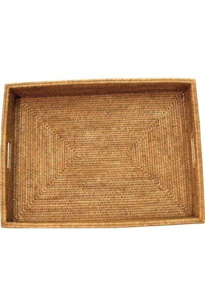 Rectangular Shallow Tray  w/ Handle