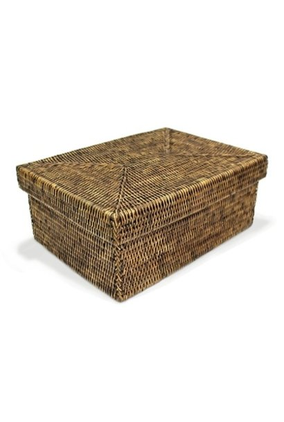 Rectangular Storage Basket with Lid - Sm