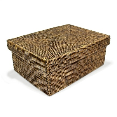 Rectangular Storage Basket with Lid - Sm-1