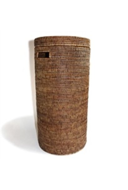 Tall Round Hamper w/ Cut Out Handle on the Side